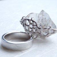 大きなハーキマーダイヤモンド原石*リング(SOLD OUT)
