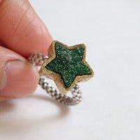 グリーンガーネット(ウバロバイト)*星のリング