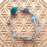Sさまオーダー*青い石のブレスレット(マザーアース)(SOLD OUT)
